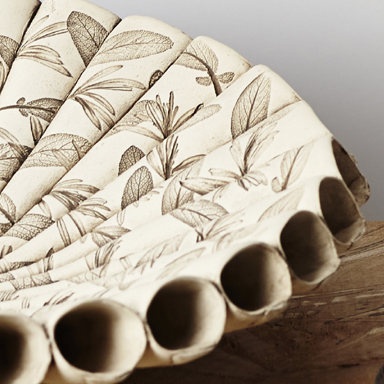 Large Leaf Cone Bowl
